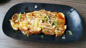 Bistecche della carne di maiale di Kurobuta Fotografia Stock Libera da Diritti