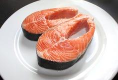 Bistecche di color salmone fotografia stock