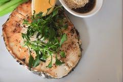 Bistecche di color salmone Immagine Stock
