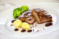 Bistecche gastronomiche Fotografia Stock Libera da Diritti