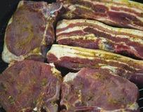 Bistecche sul barbecue Fotografia Stock Libera da Diritti