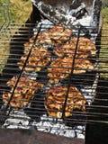Bistecche sulla griglia Immagine Stock