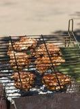 Bistecche sulla griglia Fotografia Stock