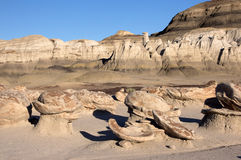 Bisti-Ödländer, New Mexiko, USA Lizenzfreie Stockfotografie