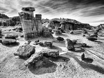 Bisti Badlands in Black & White Royalty Free Stock Photo