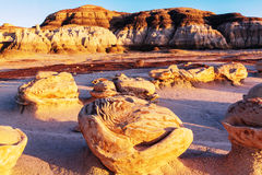 Bisti badlands Stock Photography