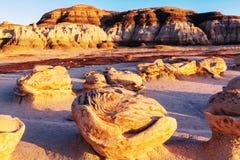 Bisti badlands. De-na-zin wilderness area,  New Mexico, USA Stock Photography