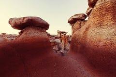 Bisti badlands. De-na-zin wilderness area,  New Mexico, USA Royalty Free Stock Photo