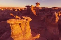 Bisti badlands. De-na-zin wilderness area,  New Mexico, USA Royalty Free Stock Photography