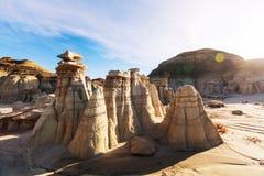 Bisti badlands. De-na-zin wilderness area,  New Mexico, USA Stock Photos