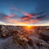 Bisti badlands. De-na-zin wilderness area,  New Mexico, USA Stock Photo