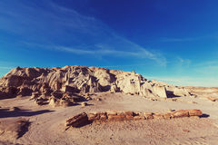 Bisti badlands. De-na-zin wilderness area,  New Mexico, USA Royalty Free Stock Images