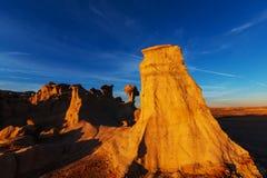 Bisti badlands. De-na-zin wilderness area,  New Mexico, USA Royalty Free Stock Photos