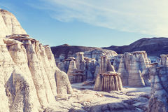Bisti badlands. De-na-zin wilderness area,  New Mexico, USA Royalty Free Stock Image