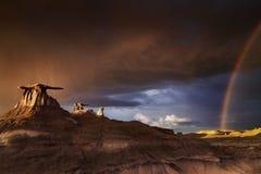 Bisti badlands, Nowi - Mexico, usa zdjęcia royalty free
