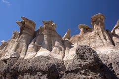 Bisti Badlands som är nya - Mexiko, USA Royaltyfri Foto