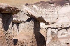 Bisti Badlands som är nya - Mexiko, USA Royaltyfri Fotografi