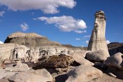 Bisti Badlands som är nya - Mexiko, USA Arkivbilder