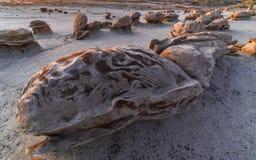 Bisti/De-Na-Zin wildernis Stock Foto's