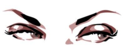 bistred глаза Стоковая Фотография RF