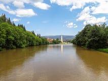Bistrita flod Royaltyfria Bilder