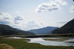Bistrita rzeka od Poiana Largului Obrazy Stock