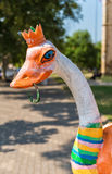 Bistrita town's symbol, the ostrich with a horseshoe in its beak. Which, according to medieval heraldry, symbolized that trade was among the main occupations royalty free stock photography