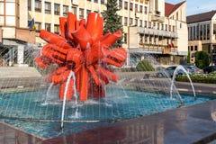 BISTRITA, TRANSYLVANIA/ROMANIA - 17 SEPTEMBER: Avondzonneschijn stock foto's