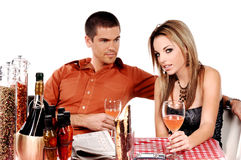 Bistro Couple Stock Images