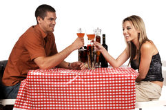 Bistro Couple Stock Photo