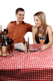 Bistro Couple Royalty Free Stock Photos