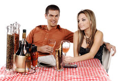 Bistro Couple Royalty Free Stock Photo