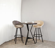 Bistro furniture as interior furniture Stock Photos