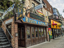 Bistro à Jojo, Montreal's Blues Institution Stock Photo