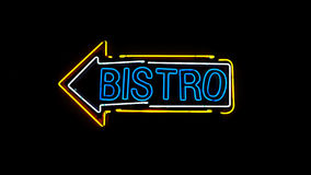 Bistro neon sign. Royalty Free Stock Image