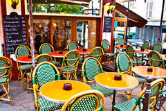 Bistro in Parijs Stock Afbeelding