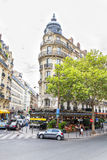 Bistro in the streets of Montmartre, Paris Royalty Free Stock Photos