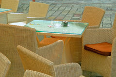 Bistro table set Stock Images