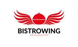 Bistroer Wing Logo Royaltyfri Foto