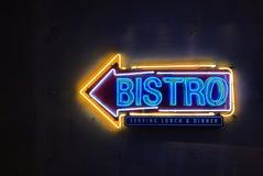 Bistroneontecken Fotografering för Bildbyråer