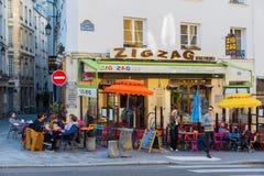 Bistros im Quartier-Latein, Paris, Frankreich Lizenzfreies Stockbild