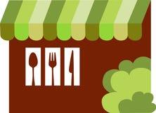 Bistros, restaurante o comensal, ilustración Imagen de archivo libre de regalías