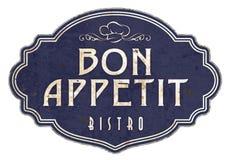 Bistros victoriens d'émail de Bon Appetit Kitchen Sign Plaque illustration libre de droits