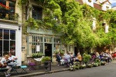 Bistrot老巴黎在法国 免版税库存图片