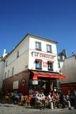 Bistrot del ristorante di Montmartre Parigi Fotografia Stock