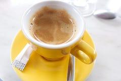 Bistrot filiżanka kawa espresso obraz royalty free