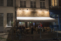 Bistrot at night Stock Images