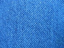 Bit of blue jean. Cloth blue jean material Stock Photos