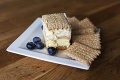3bit cake met koekjes Royalty-vrije Stock Afbeeldingen