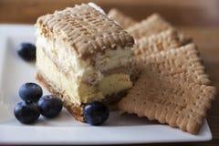 3bit cake met koekjes Stock Afbeeldingen